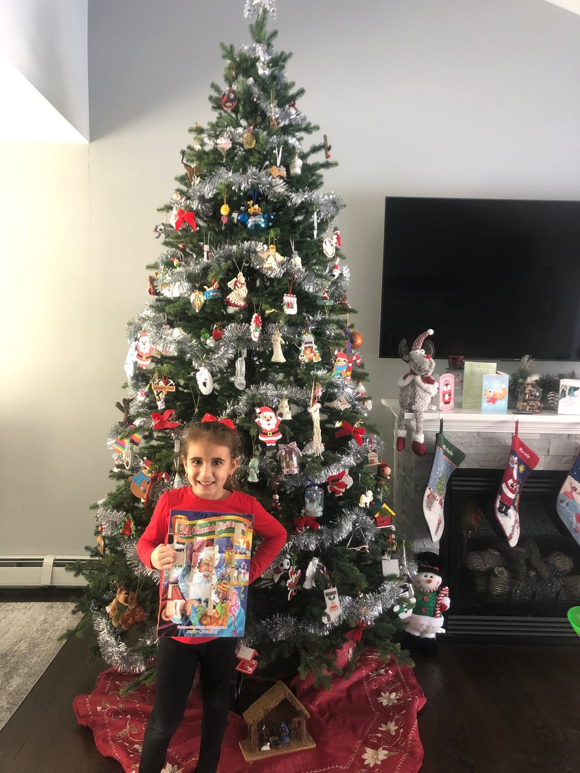 While Marielle Vasquez spent the days leading up to Christmas giving, she got to enjoy an advent calendar, and a piece of chocolate each day.