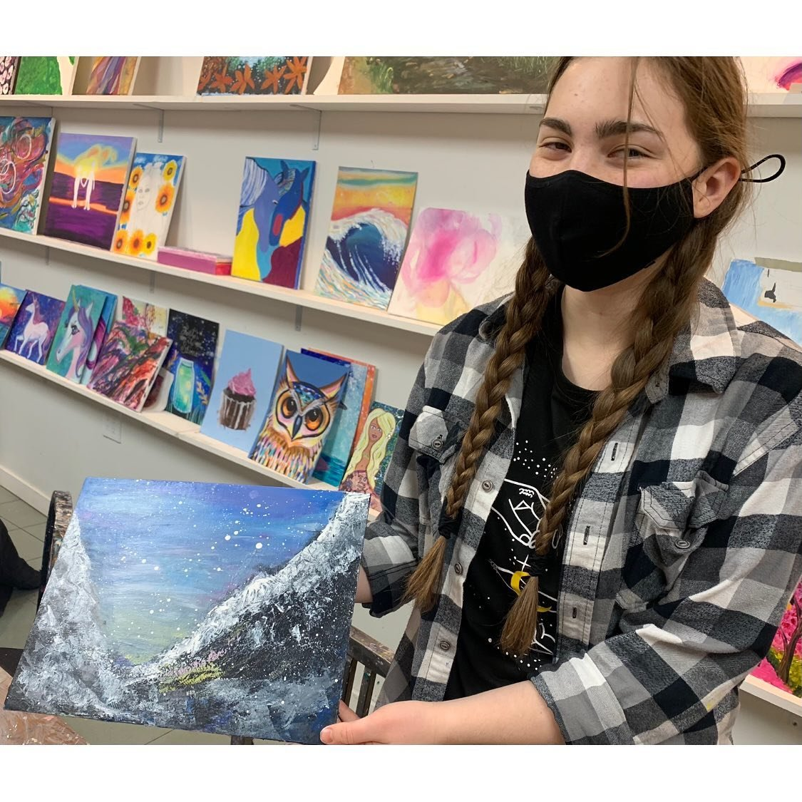Adela Schwarz-Van Praag, age 16, was excited to be a part of the holiday art project.