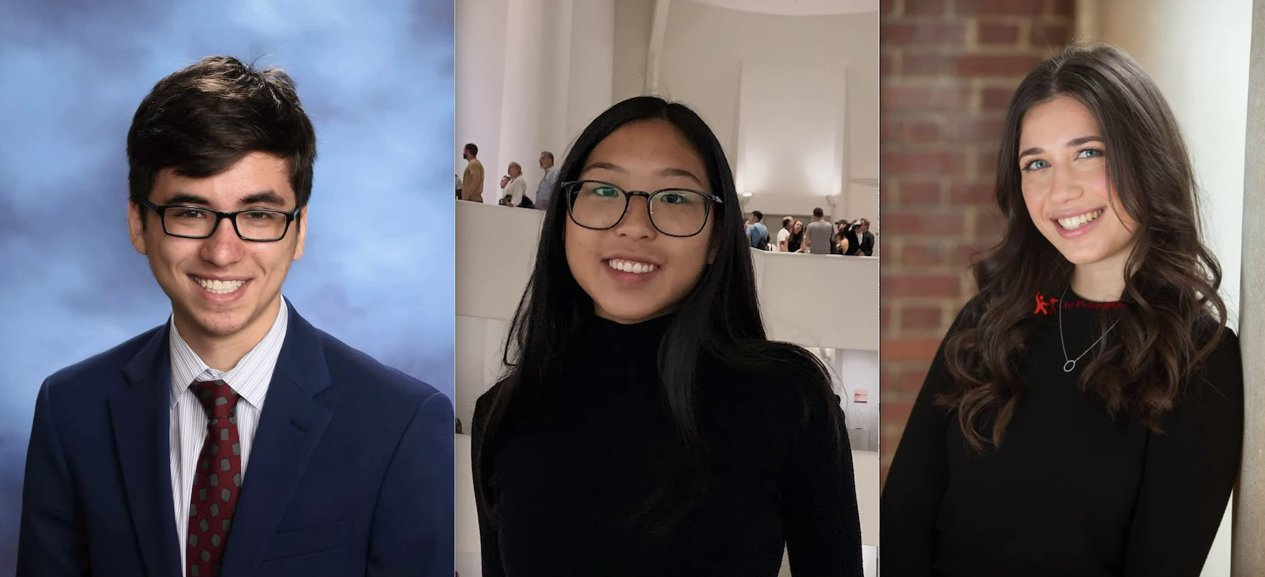 Hewlett High School seniors Alex Breslav and Alicia Hsu, and Stella K. Abraham High senior Priva Halpert, were named semifinalists in the 2021 Regeneron Science Talent Search.