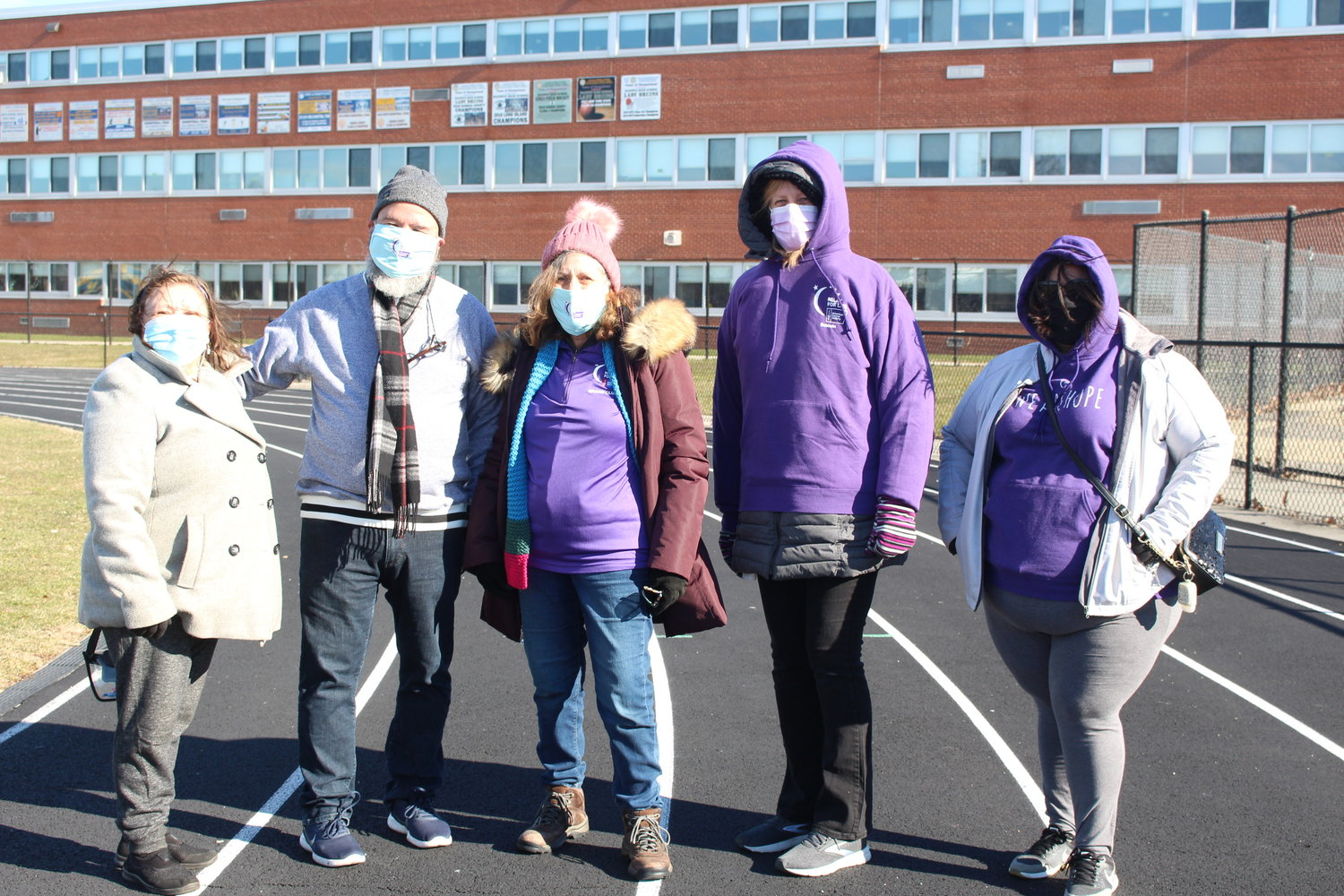 "Despite freezing temperatures, the team ""Caring Butterflies of Baldwin"" made it out to support the cause."