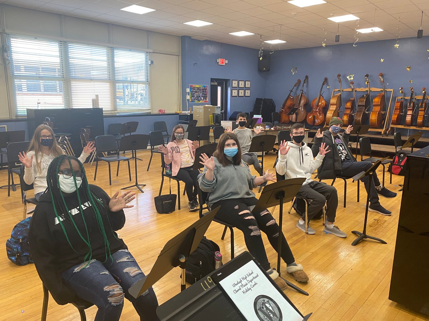 Wantagh High School choral students joined their peers in the school's audio engineering class to create and share a virtual concert with the community.