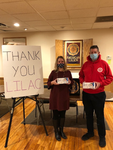 Baldwin American Legion Post No. 246 received masks and PPE donations.