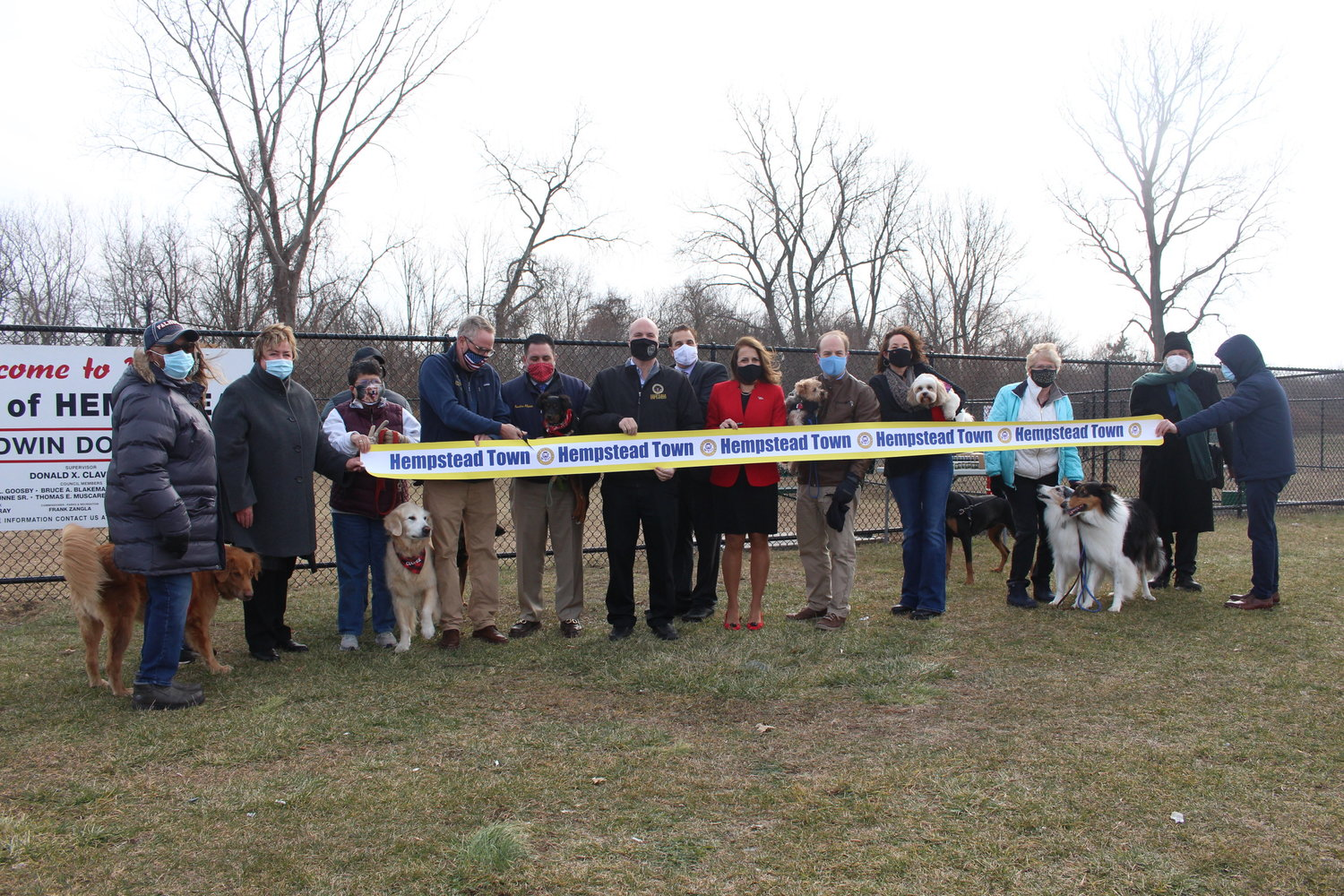 Dog owners from around town joined elected officials to unveil the new facility on Jan. 15.