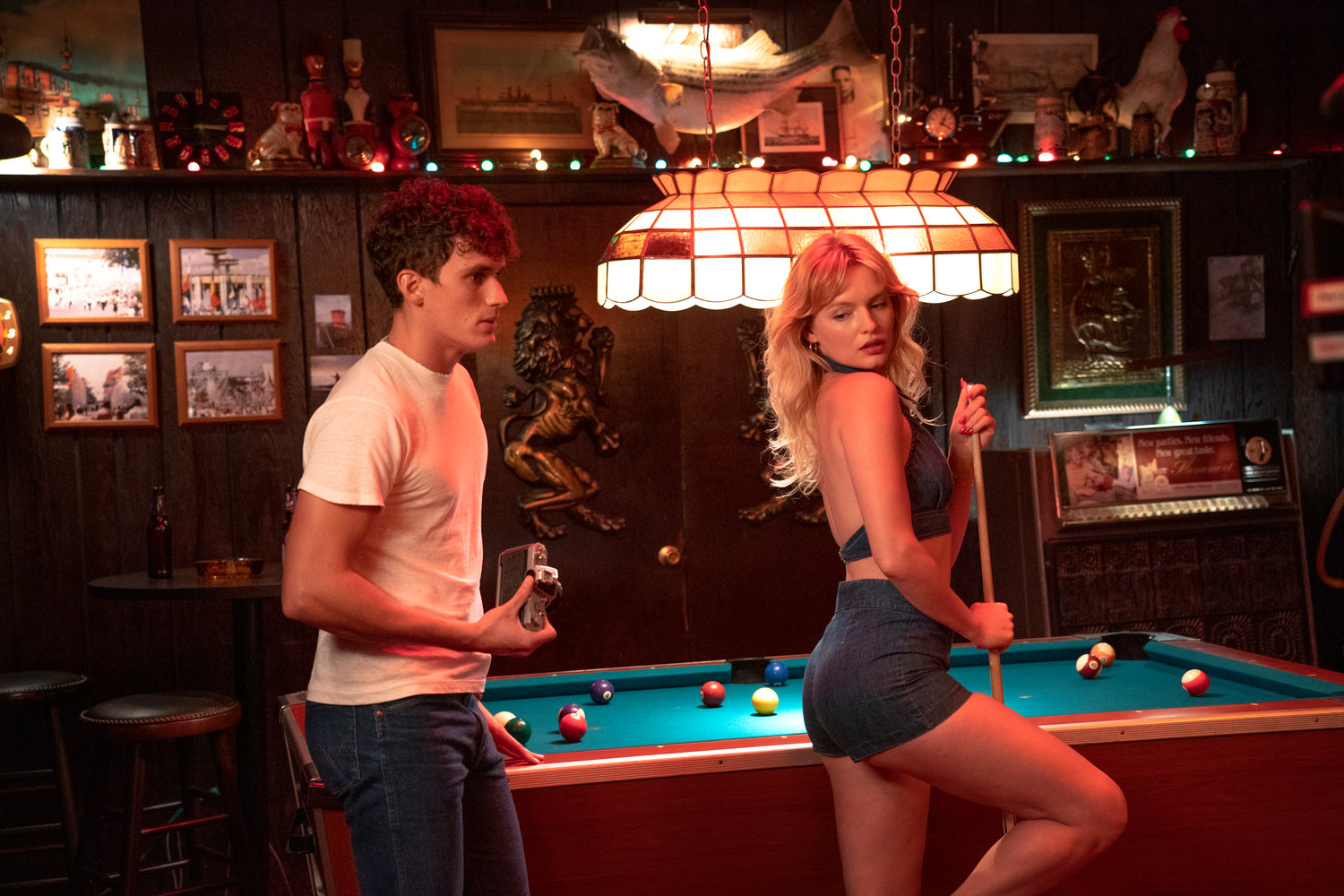 """Bridge and Tunnel"" stars Sam Vartholomeos and Isabella Farrell. Scenes for the show were shot at locations in Valley Stream such as Larry's Pub, pictured above."