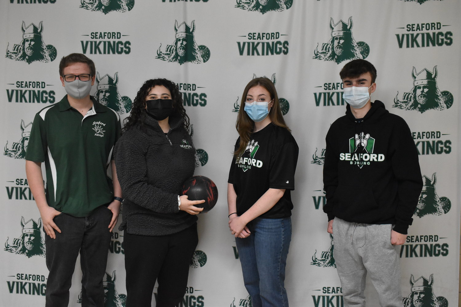 Seaford bowlers, from left, Peter Weber, Sofia Sanchez, Marissa Mele and Joseph Gallagher are looking for another big season.