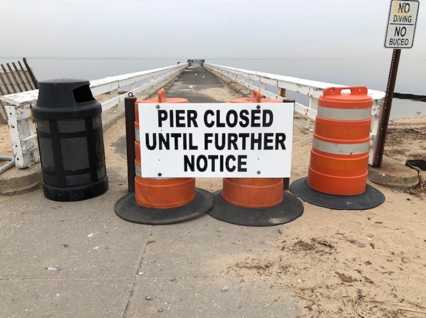 The Pryibil Beach pier will remain closed for repairs until further notice.