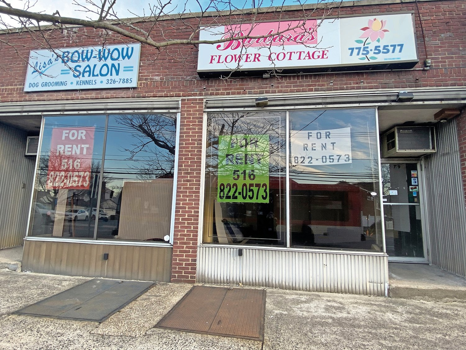 There are many empty storefronts in Franklin Square and Elmont.