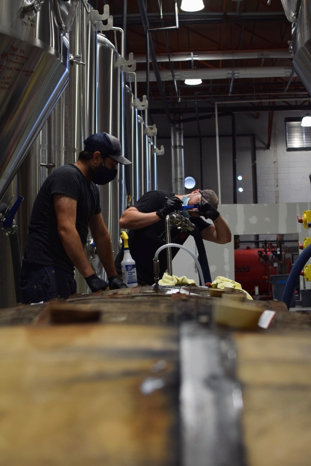 Jason Stein and Zac Ross at work at 12 Percent in North Haven, Conn., where Timber Ales is produced.