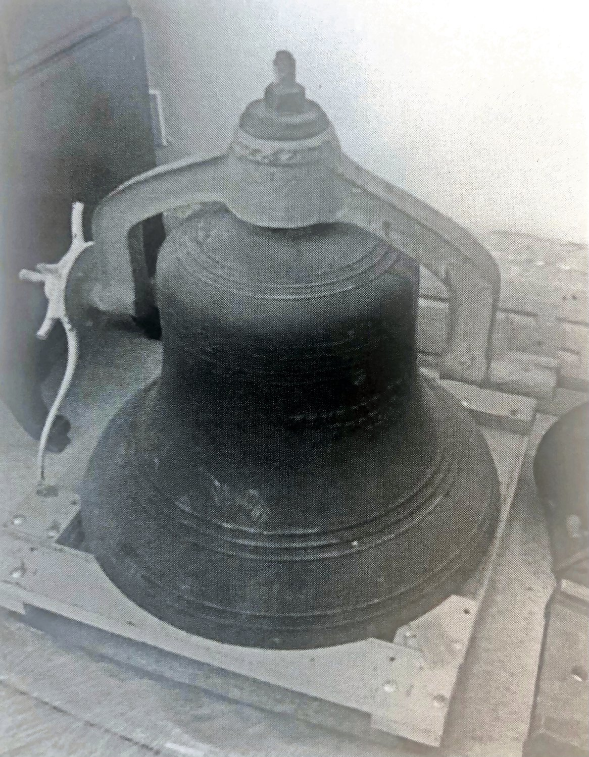 A bell was placed in the attic of the Monroe Street School when it was constructed in 1912, and would summon students to school each morning from September 1912 until the school closed in June 1975.
