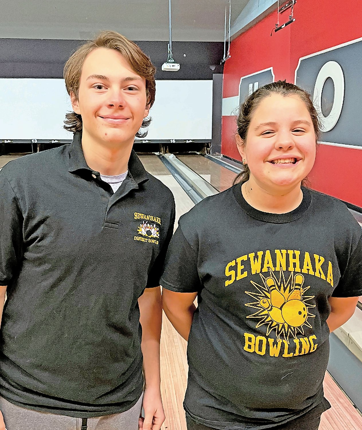 Brandon Hughes, averaging 227, and Moran Winchell, sporting a 193 average, are leading Sewanhaka's bowling programs.