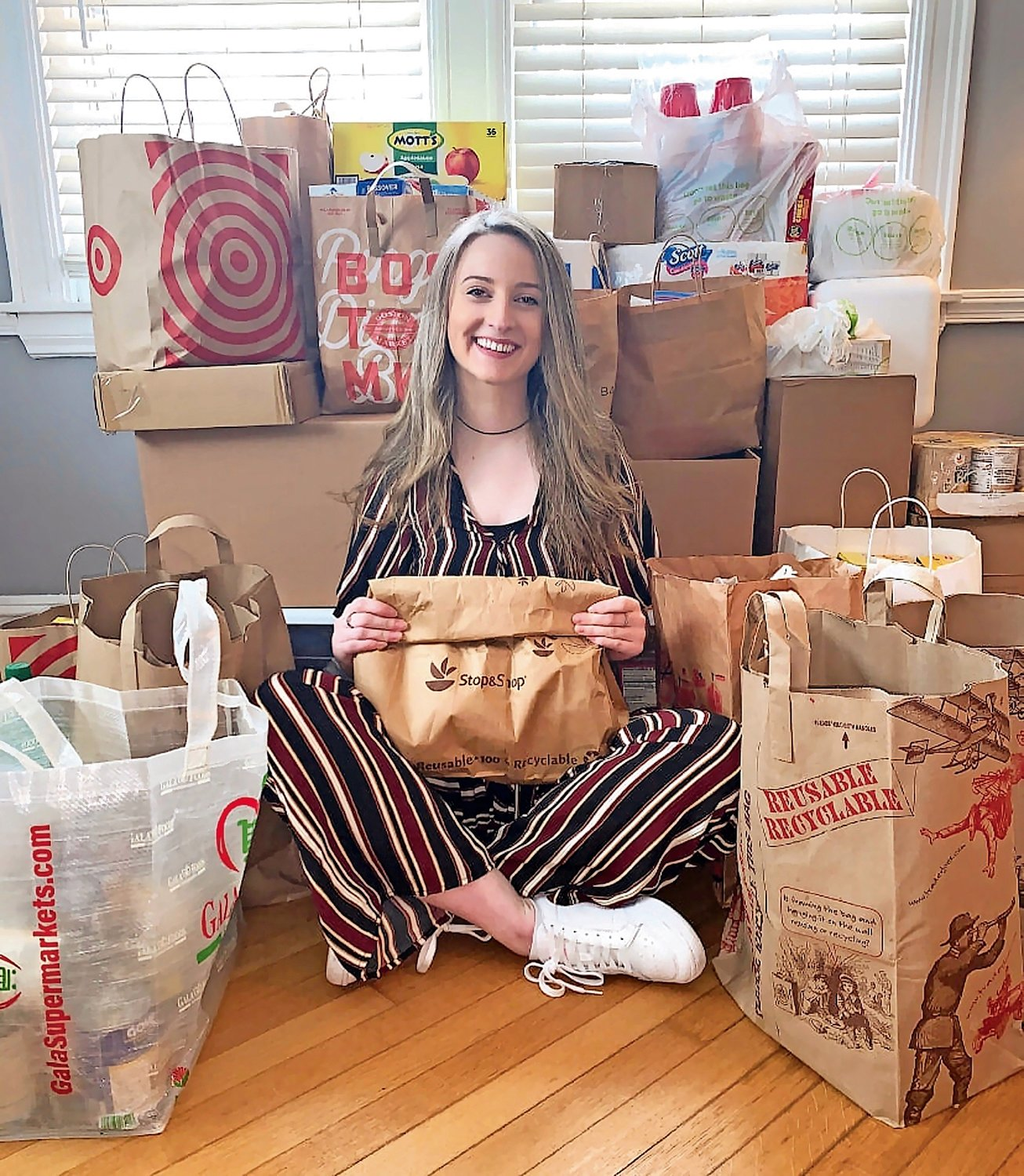 Molly Miskiewicz, of West Hempstead, launched Drive Out Hunger last June.