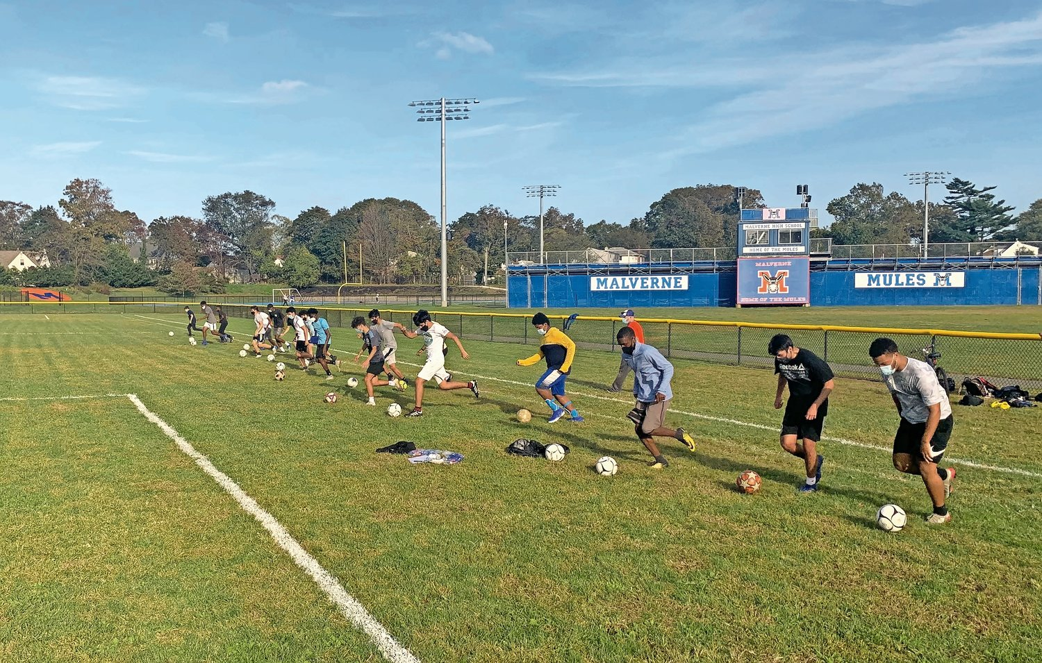 Malverne High School kicked off its outdoor intramural program on Oct. 19.