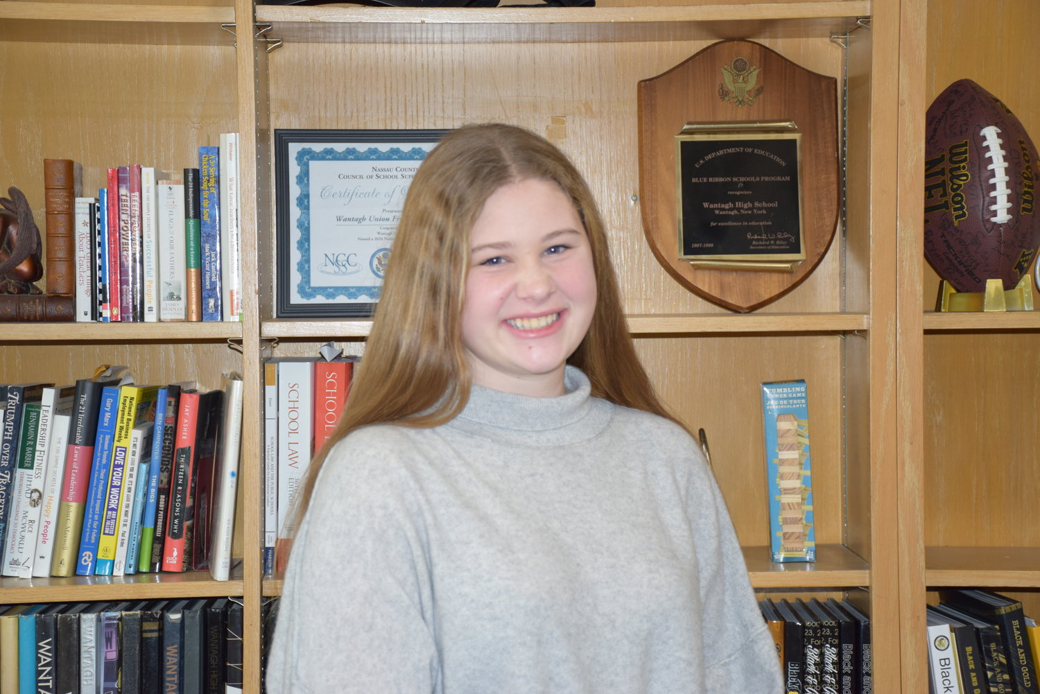 "Nora Toscano, a sophomore at Wantagh High School, received an honorable mention for her short story ""Go to Sleep,"" from the Region-at-Large program of the 2021 Scholastic Art & Writing Awards, presented by the Alliance for Young Artists and Writers."
