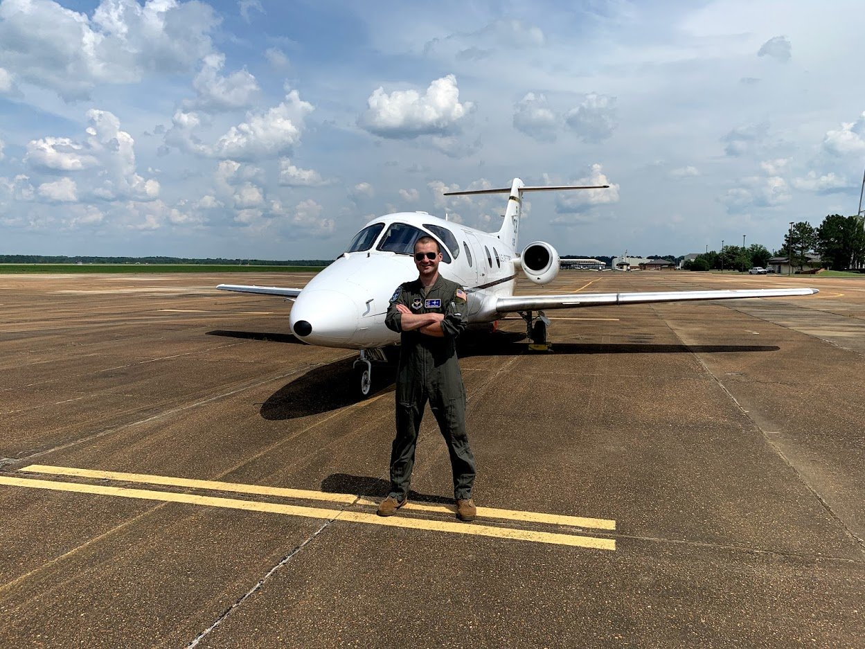U.S. Air Force Pilot Nick Cavallone is stationed in Texas, where he is learning to instruct aspiring USAF pilots.