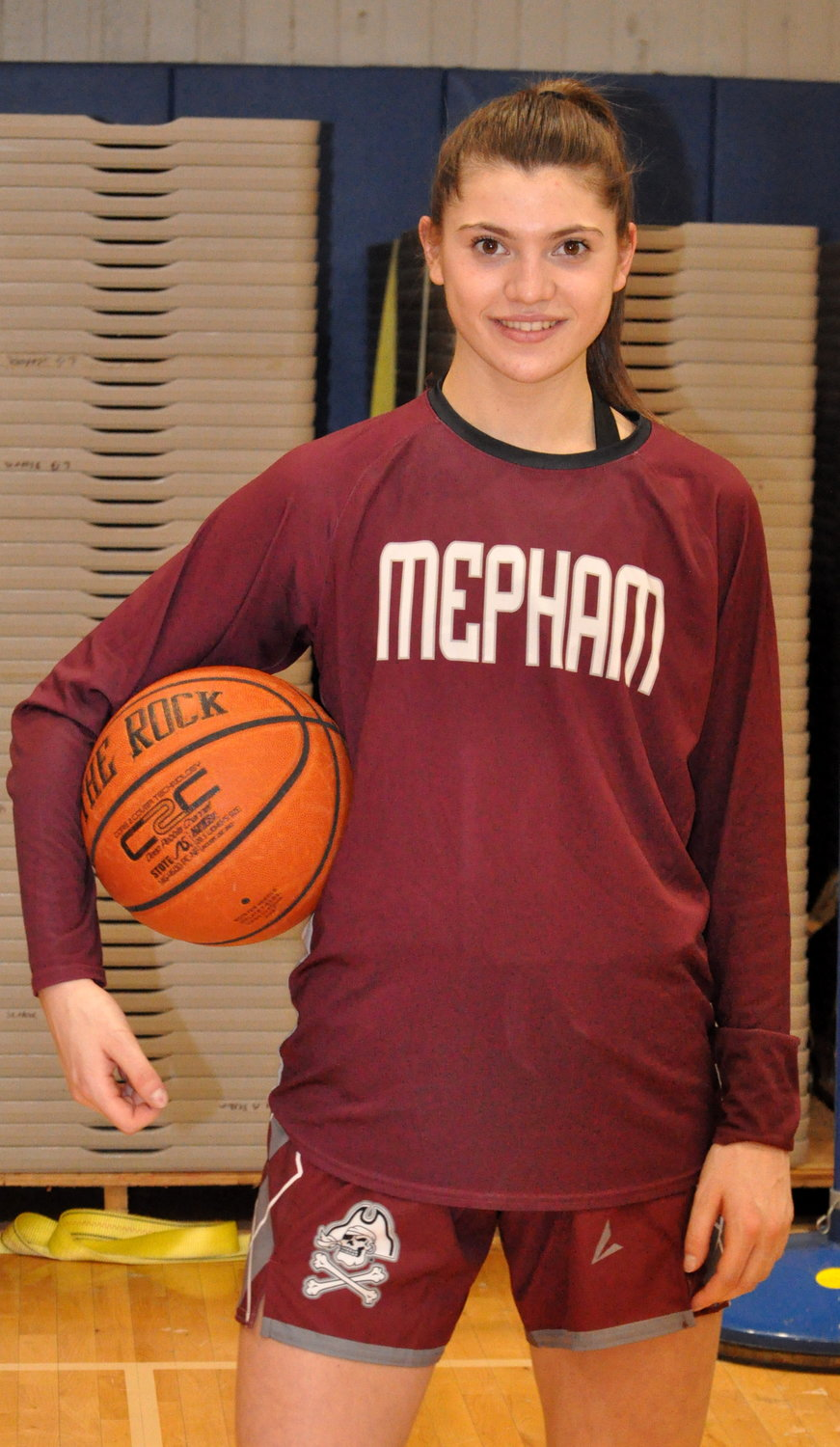 Senior Julia Rawlinson scored 11 points in Mepham High School's season-opening victory against Long Beach last Friday.