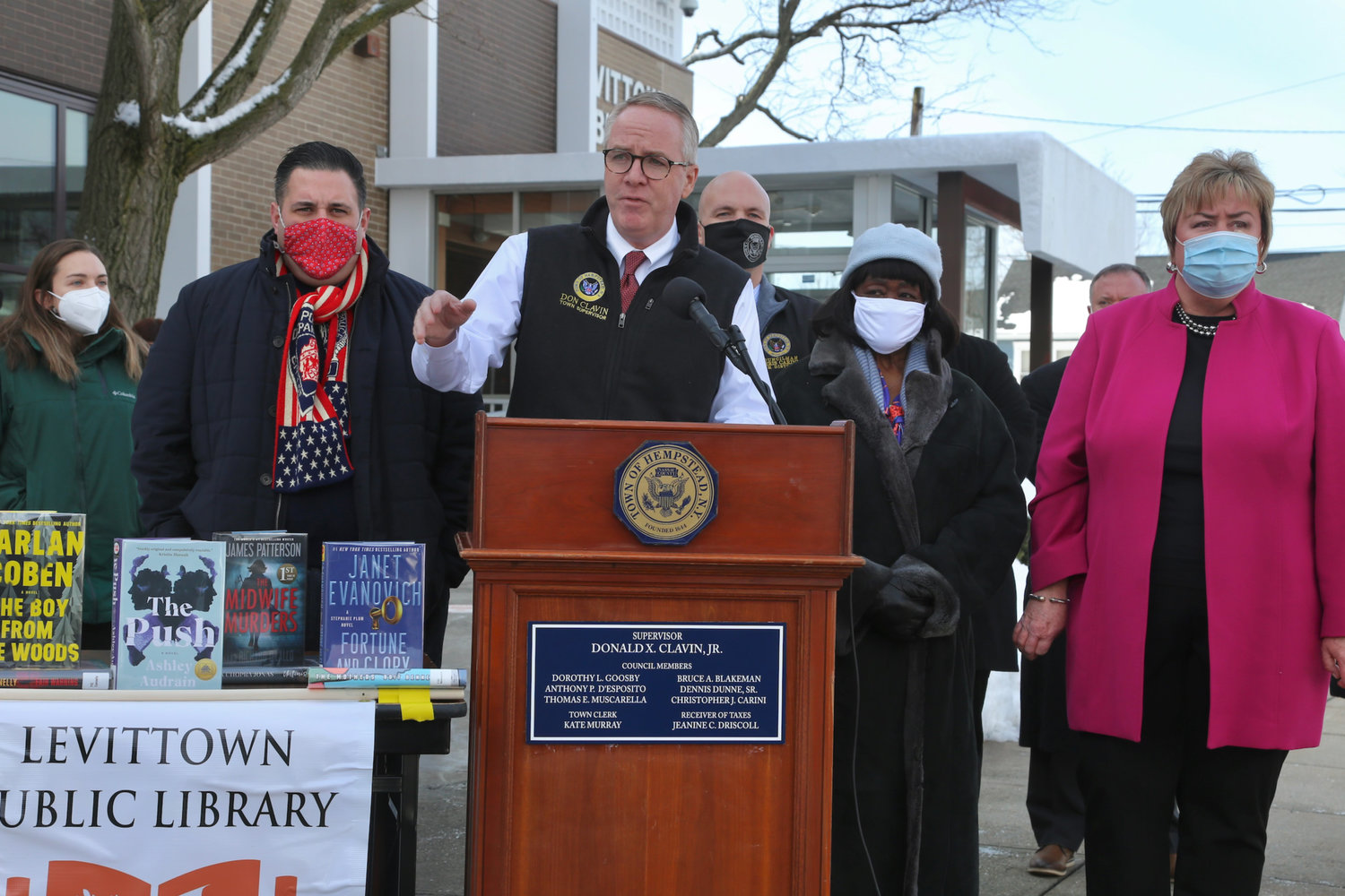 On Feb. 10, Hempstead Town Supervisor Donald Clavin announced that the town would direct more than $340,000 of federal CARES Act funding to support a number of libraries in the township.