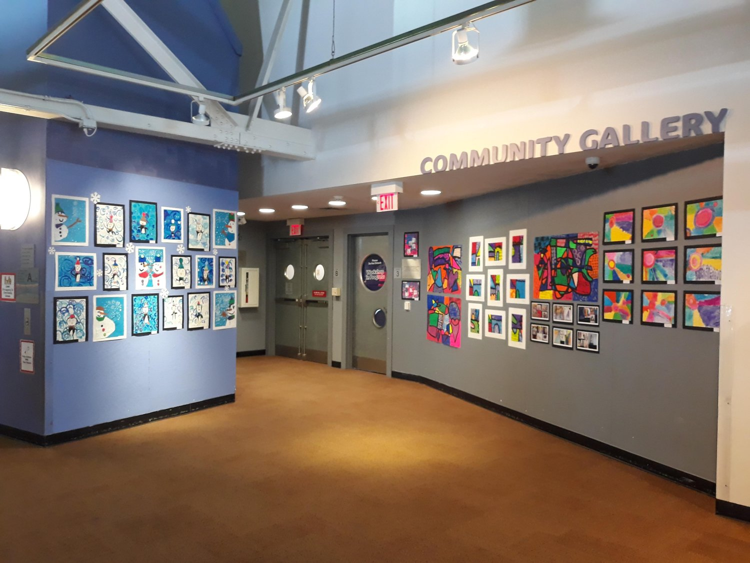 The Community Gallery at the Long Island Children's Museum is exhibiting the artwork of students from the Lawrence Primary School.
