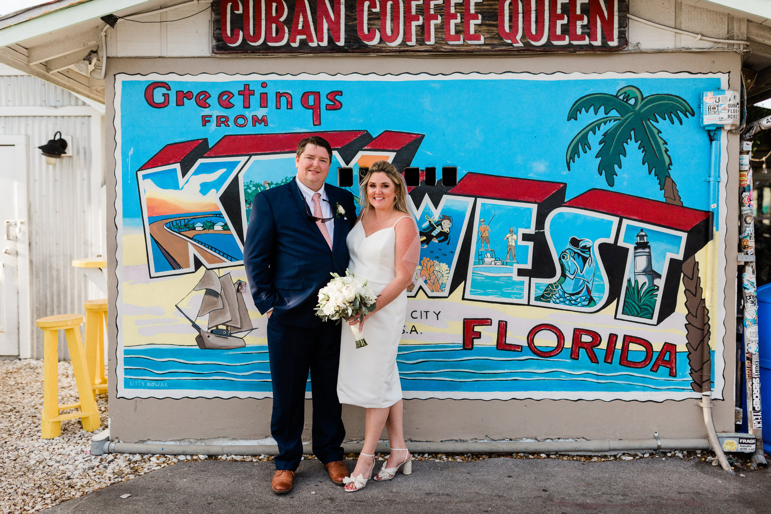 Brendan Keating and Ashley Kate Molloy, a former Rockville Centre resident, were married in Key West after the pandemic altered their plans for wedding in Ireland.