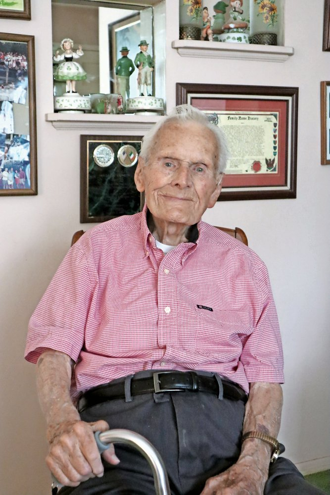 The Herald interviewed Andrew Conlin in his Merrick home as he approached his 100th birthday in 2019. The longtime resident died at 101 on Feb. 7.