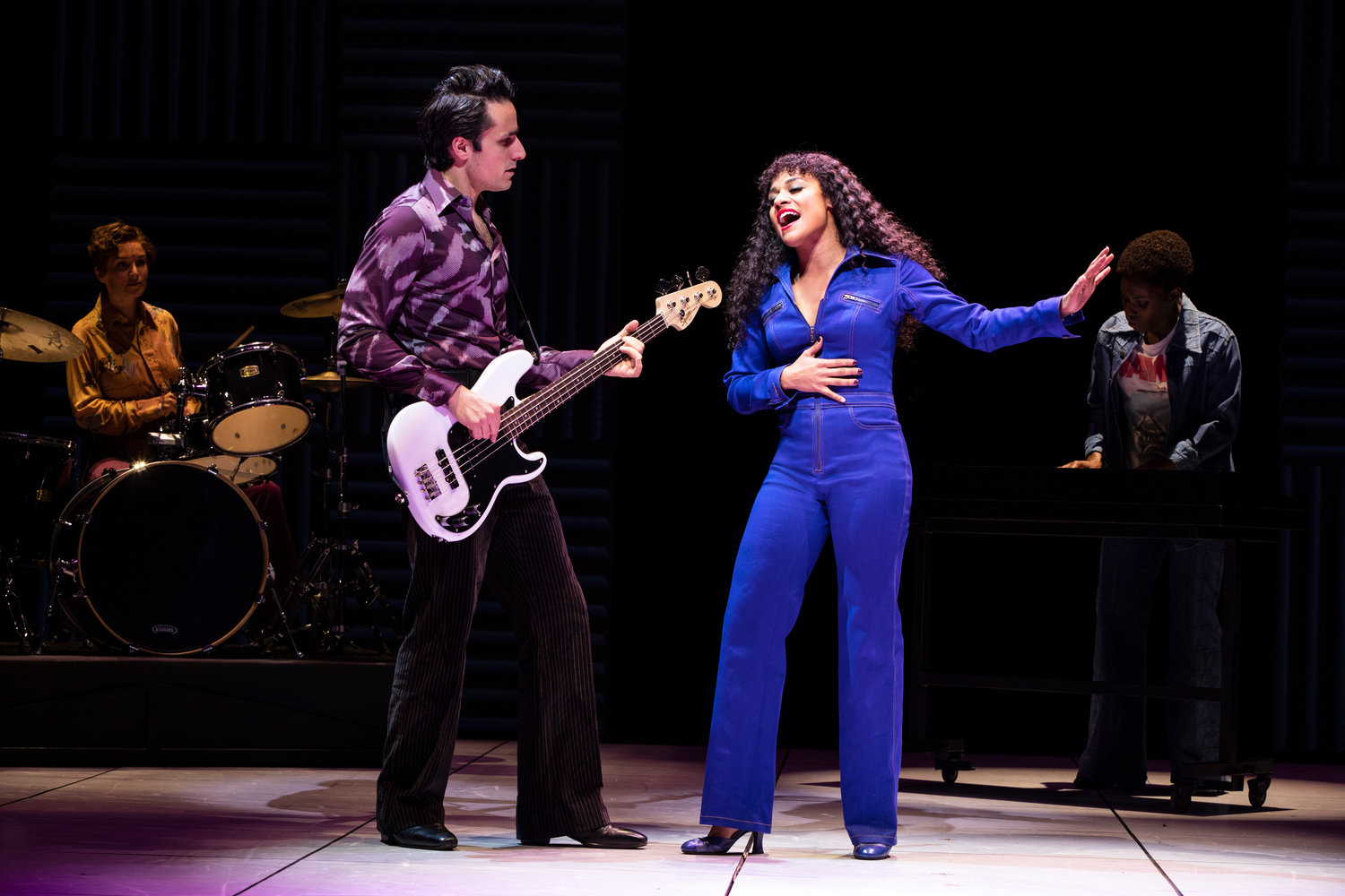 "Jared Zirilli, left, starred in Broadway's ""Summer: The Donna Summer Musical"" at the Lunt-Fontanne Theatre in New York City. These days he is working as an acting coach, after pandemic-related theater closures forced the industry to shut down."