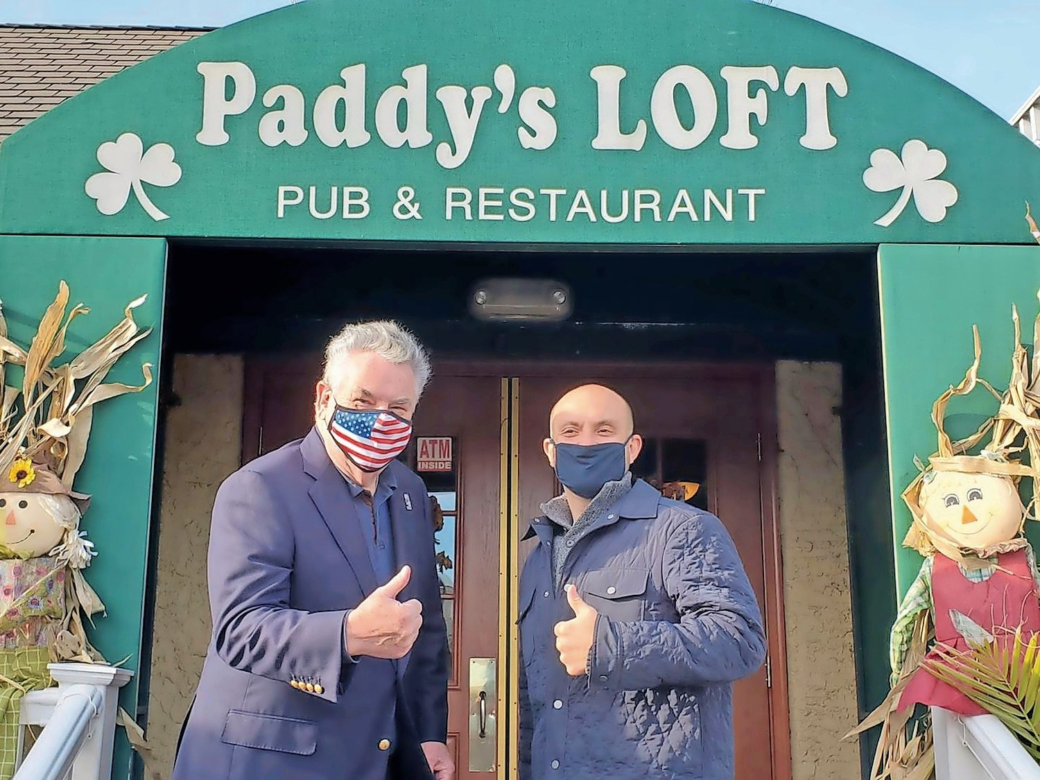 U.S. Rep. Andrew Garbarino recently introduced legislation that would help small business owners create plans to transfer control of their businesses when they leave, retire or die. Garbarino often patronizes local businesses like Paddy's Loft in Massapequa, where he appeared with his predecessor, Peter King.