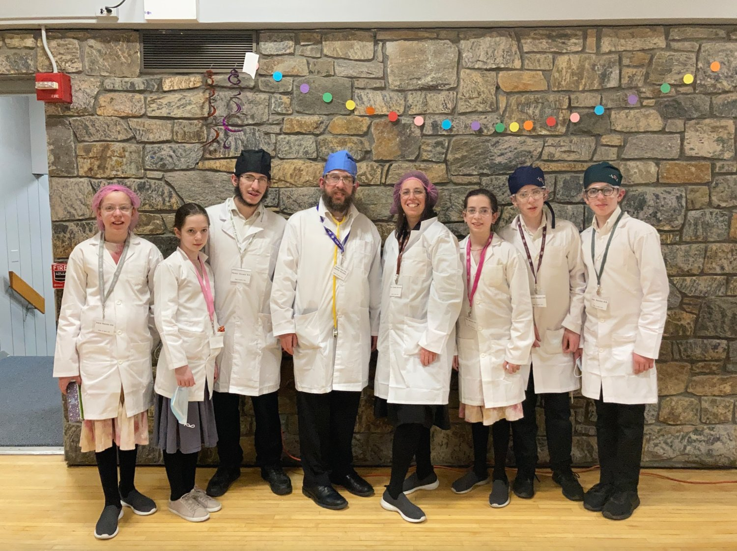 The Kramer family dressed up as essential workers to pay homage to those still serving on the frontlines of the coronavirus pandemic almost a year later.
