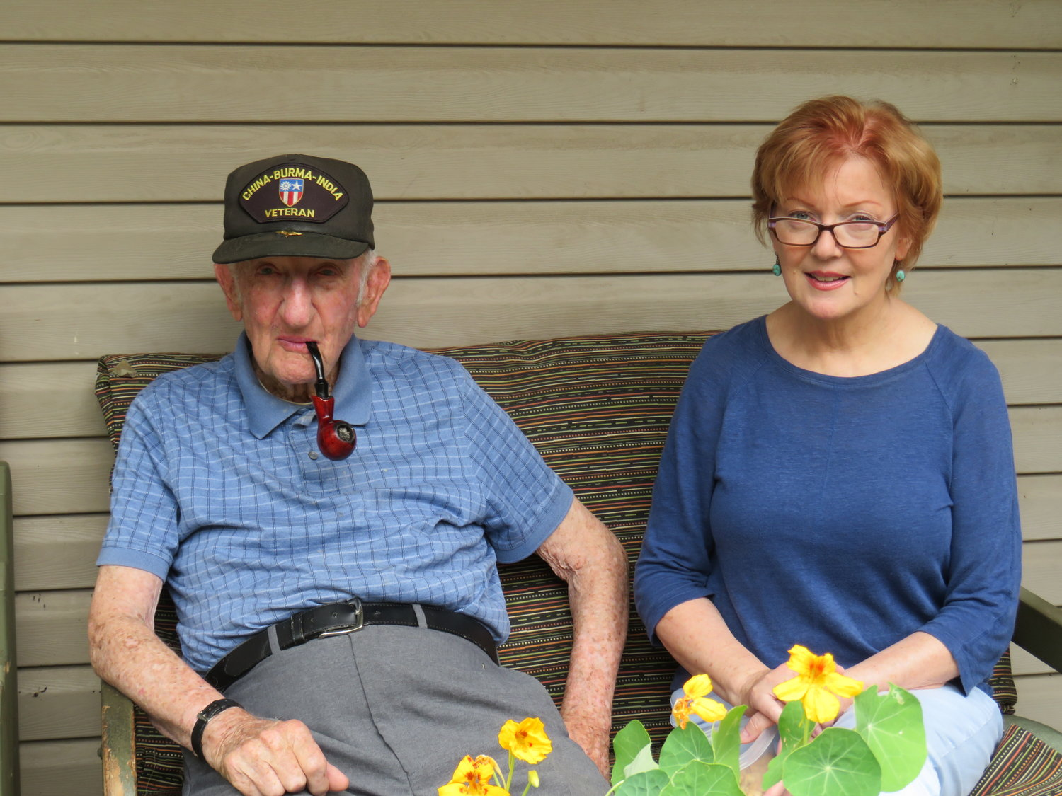 World War II veteran Arthur Bonne, of Lakeview, celebrated his 100th birthday on Jan. 19. He is pictured with his daughter, Suzanne.