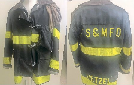 The firefighter's coat worn by Thomas Hetzel, a Franklin Square resident who died in the Sept. 11 attacks, will be on display at the Franklin Square Museum.