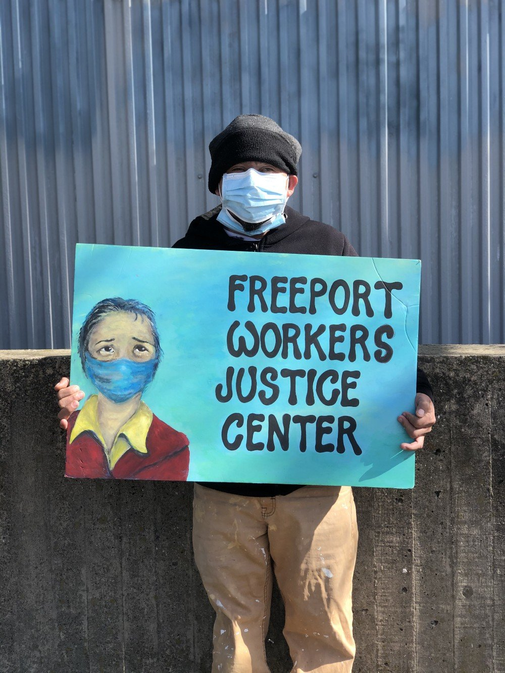 Hector Rodolfo Gomez, 43, a member of Freeport's Workers Justice Center.