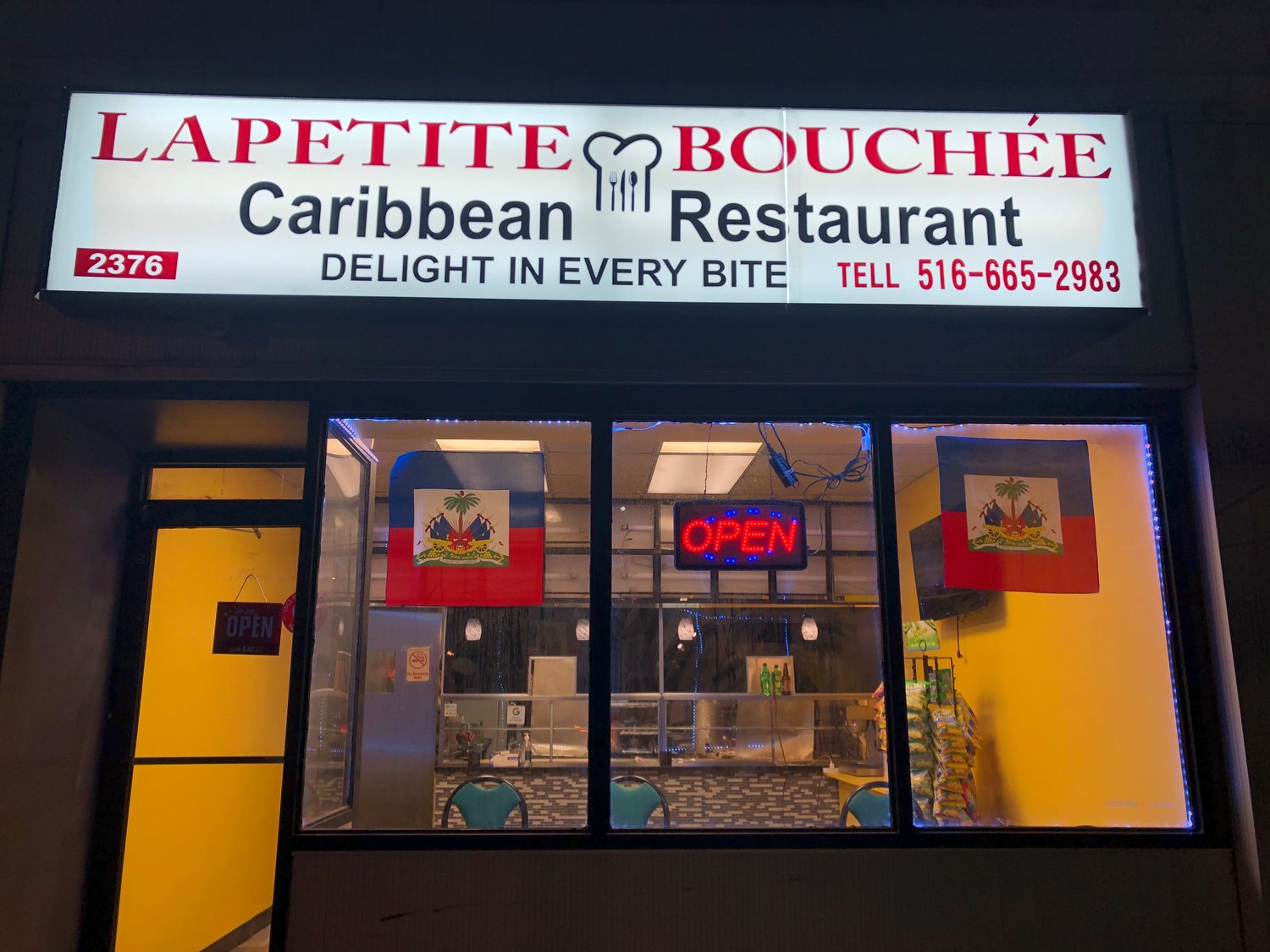 Dina Adams, the owner of La Petite Bouchée Caribbean restaurant in Baldwin, said she opened for the first time seven weeks ago.
