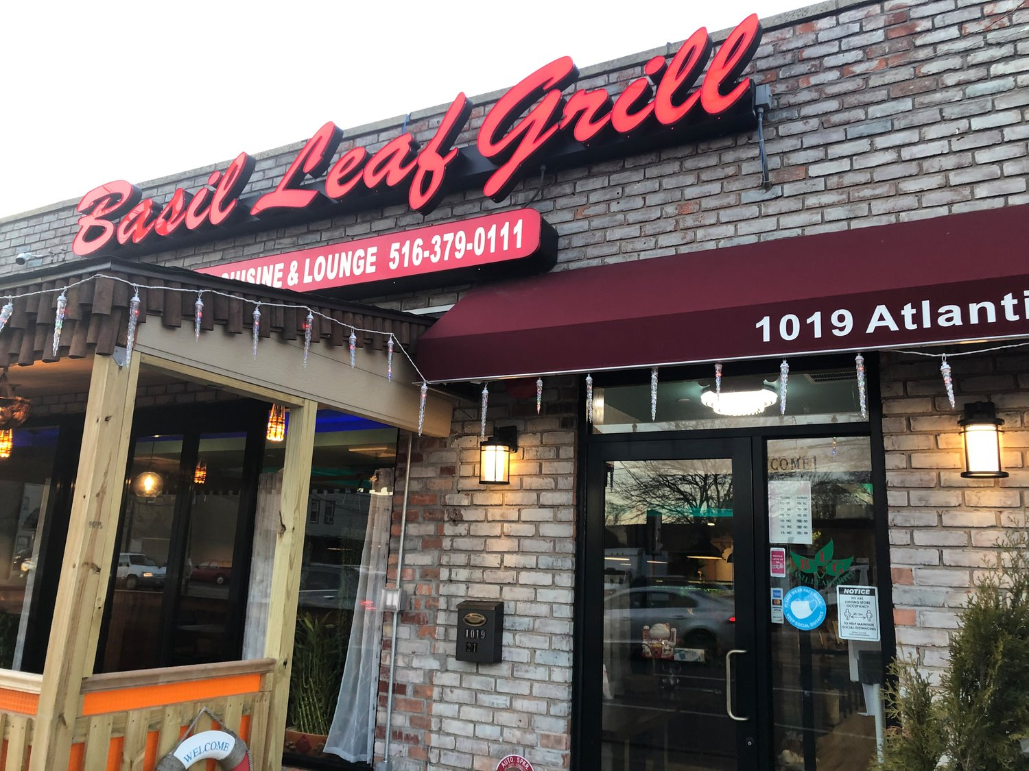 Basil Leaf Grill Cuisine and Lounge in Baldwin opened last March 5, just as the pandemic was spreading.