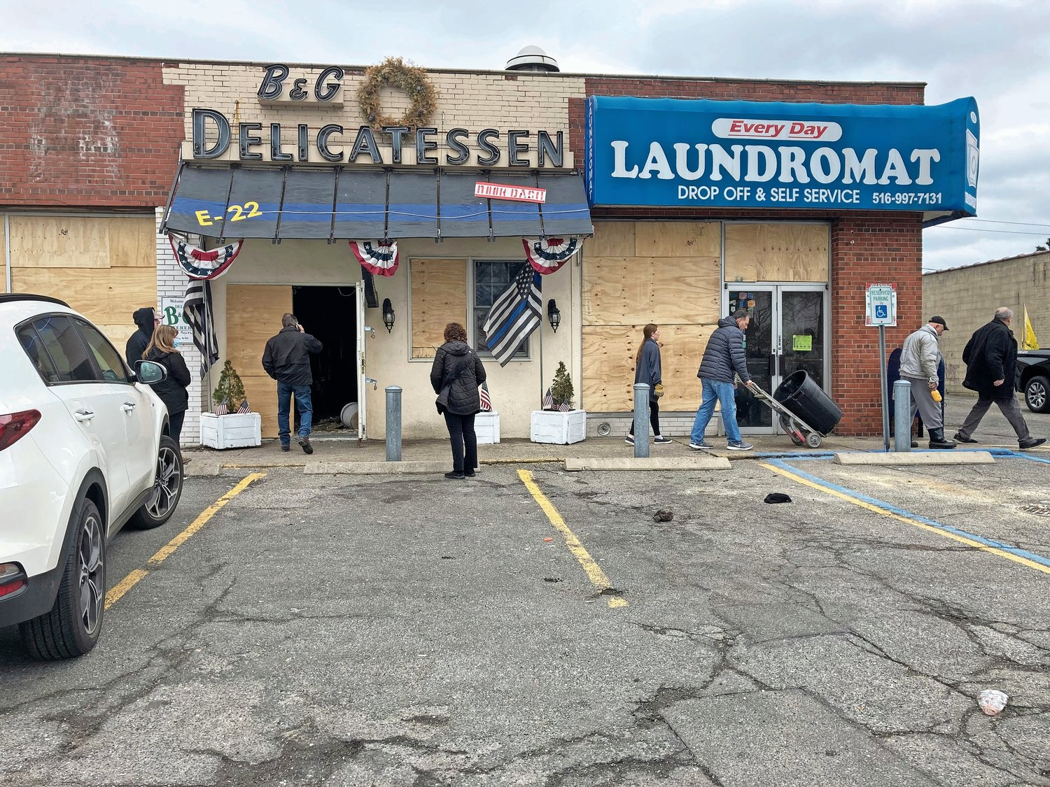 Five stores in the strip mall on Carman Avenue in Salisbury, including B&G Delicatessen, were damaged in a late-night fire on March 16.