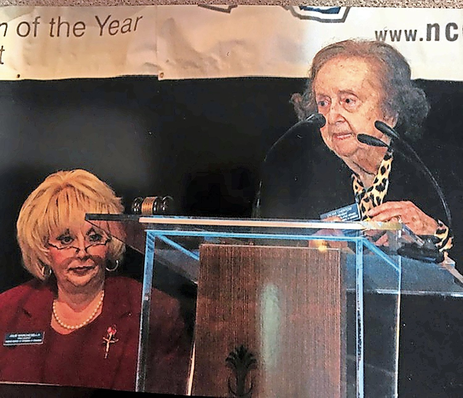 Sylvia Chertow spoke at the Nassau Council of Chambers of Commerce breakfast in 2012, above, with then-President Julie Marchesella.
