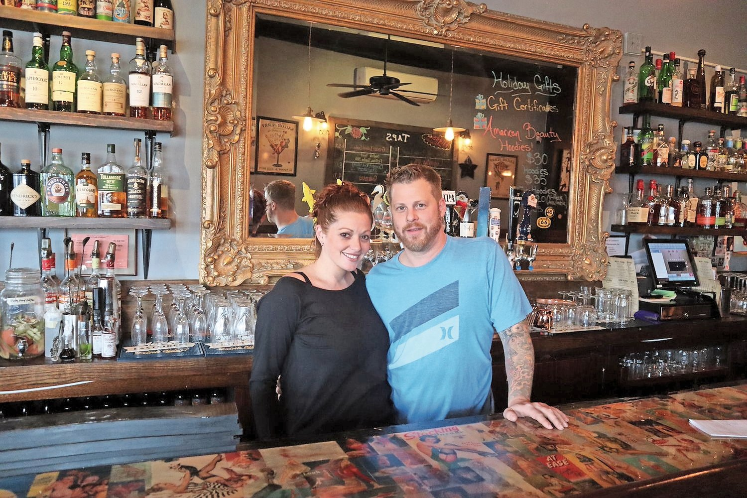 American Beauty Bar & Grill owner Maria Cassano said she hoped to open the Bellmore spot by April 1. She owns the restaurant with her husband, Michael.