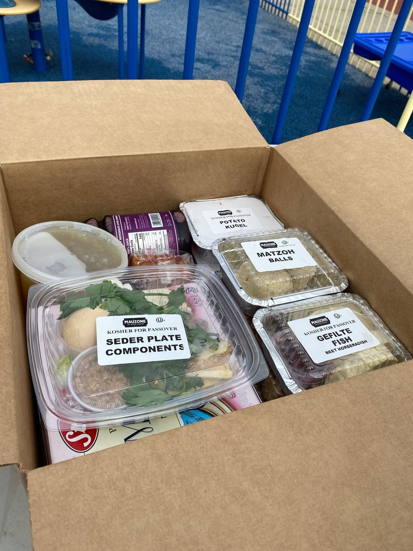 "Dozens of South Shore residents received a ""Seder in a Box"" delivery."