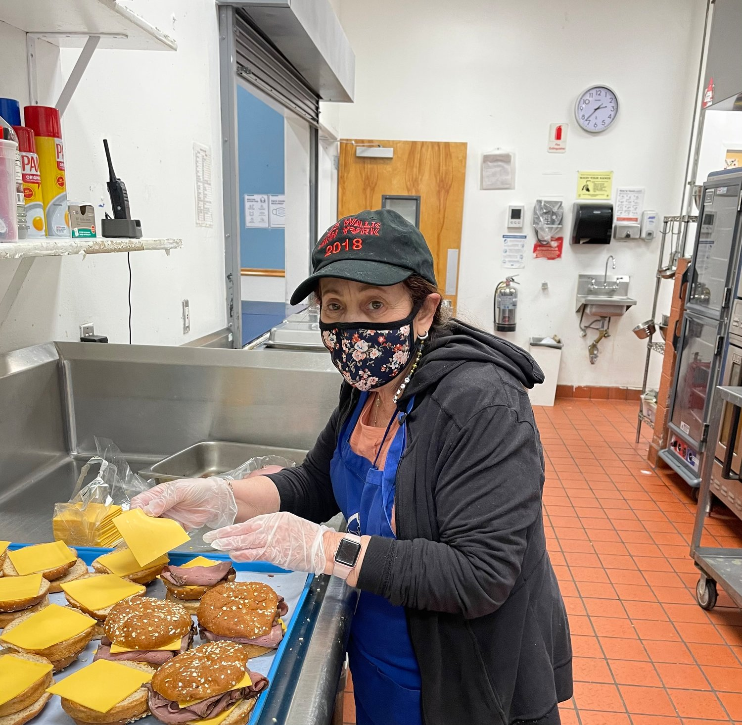 Bellmore resident Linda Goldstein prepared meals at the Mary Brennan Interfaith Nutrition Network in Hempstead. She's raised more than $2,500 for the organization.