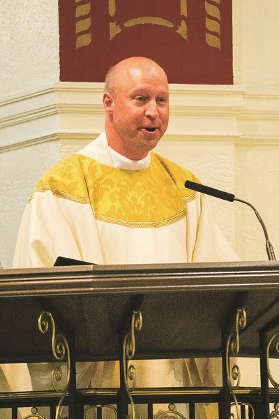 The Rev. Nicholas Zientarski, pastor of Saint Christopher's church and school in Baldwin, recently said his farewells to the school in a letter addressed to parishioners.