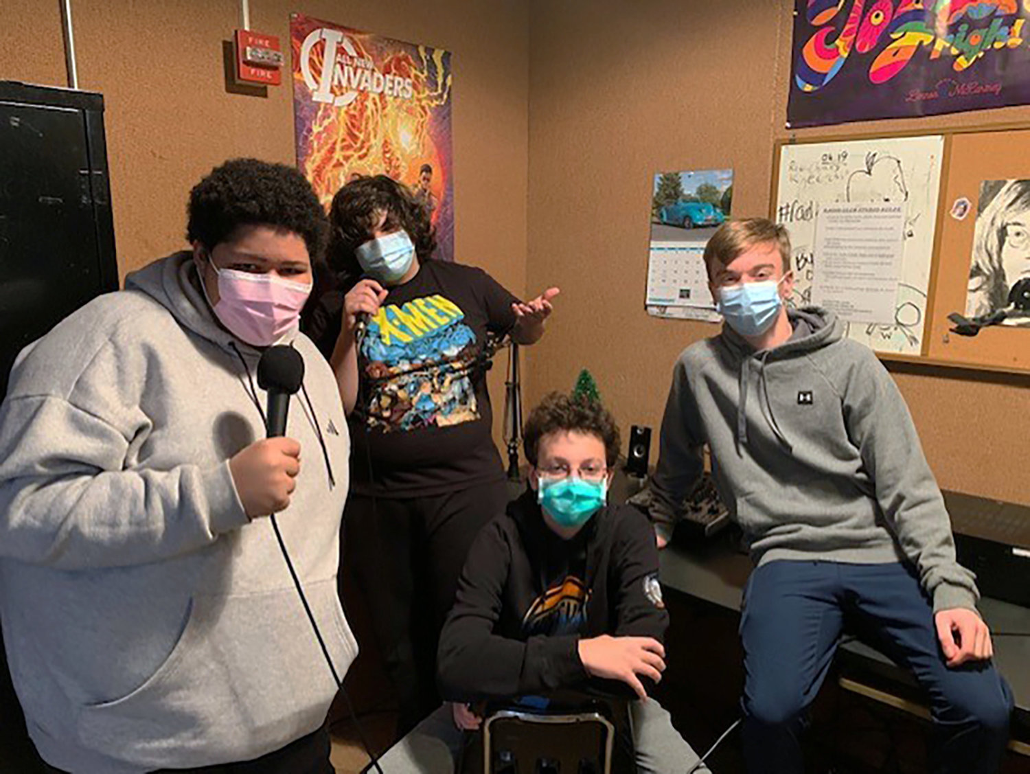 Seaford High School's Radio Club records a weekly podcast and plays music in the cafeterias each day during lunch periods.
