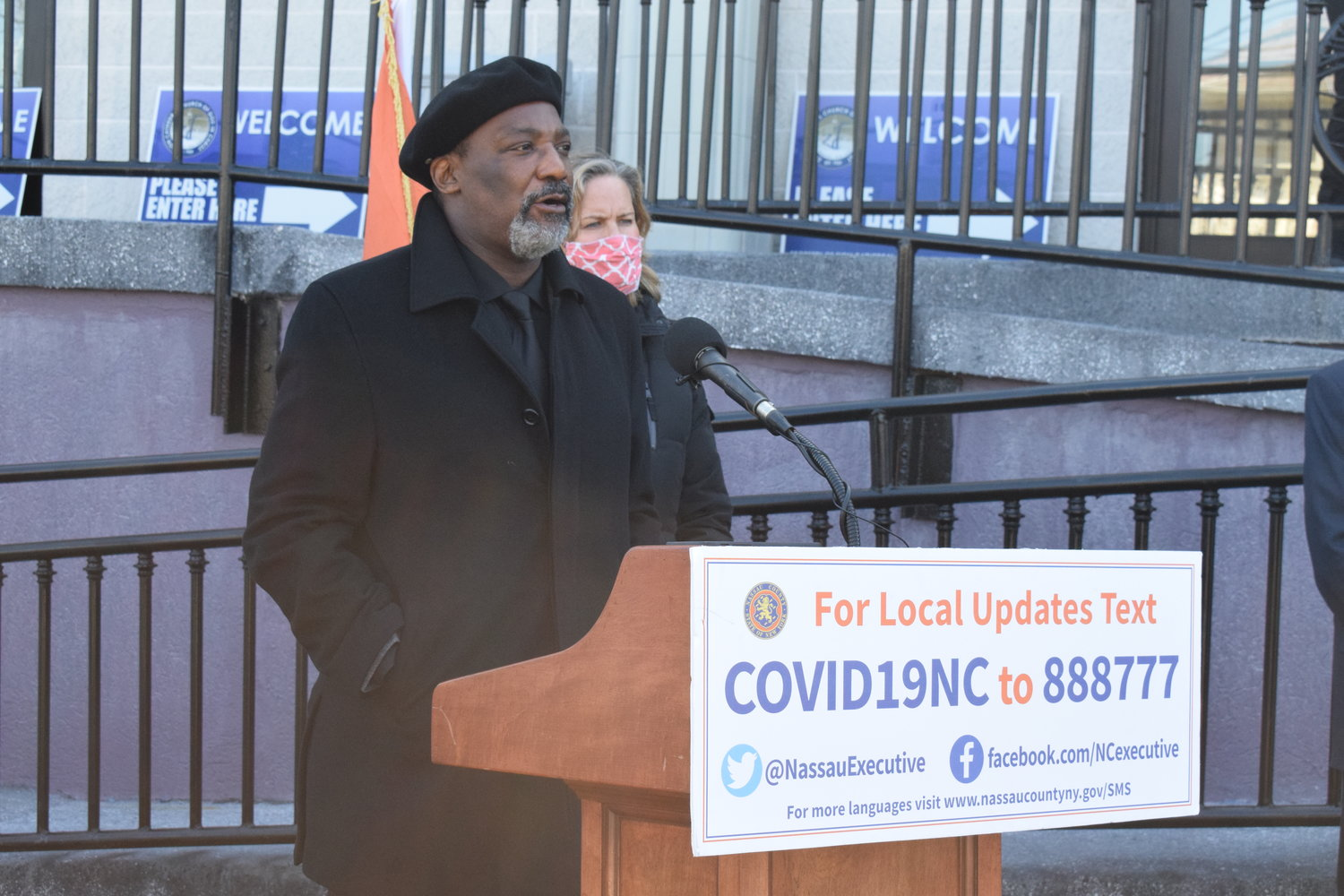 Bishop Frank A. White spoke about the importance of community leaders joining to help the most vulnerable residents get vaccinated against Covid-19.