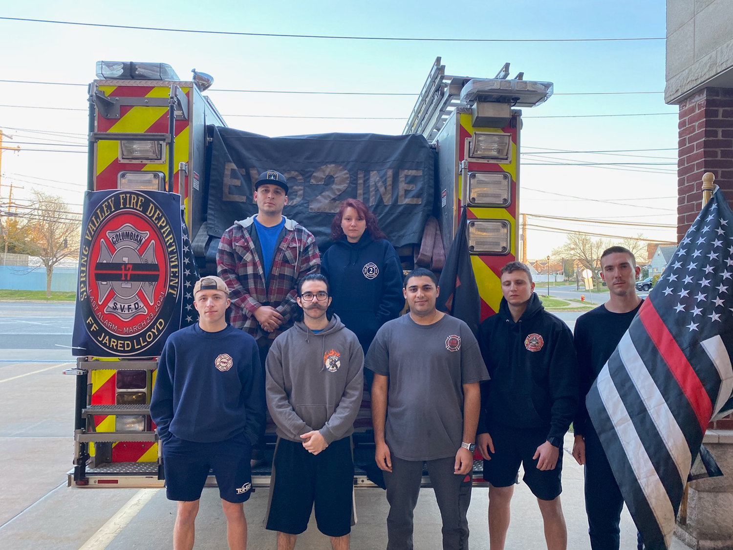 Members of Wantagh Fire Department Station #2 embarked on a one-mile run in memory of Firefighter Jared Lloyd on March 30.