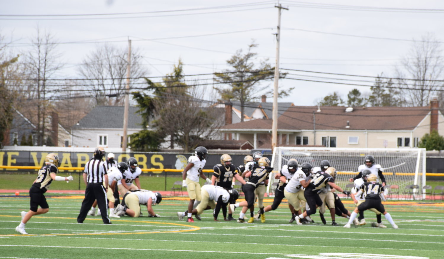 The Wantagh High School Warriors beat the West Hempstead Rams 37 to 6 during its Homecoming game on April 10.