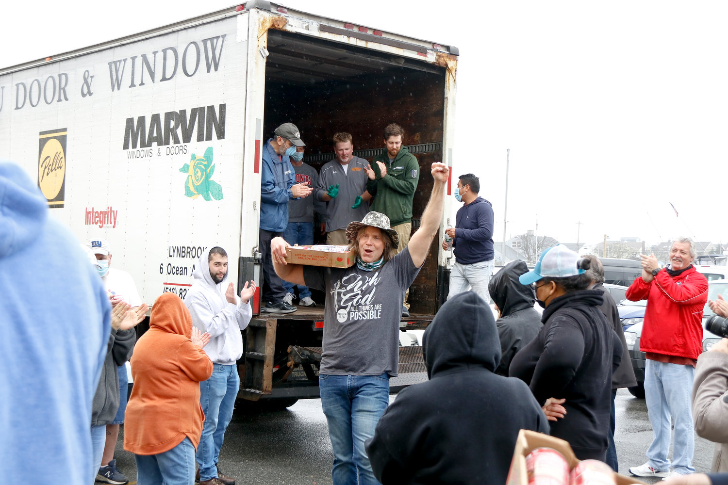 Lynbrook residents Rob and Mary Hallam hosted their annual Move the Food Day event on Sunday, in which they collect and donate food to the Long Island Council of Churches food pantry in Freeport. Rob was excited about the   success of the event.