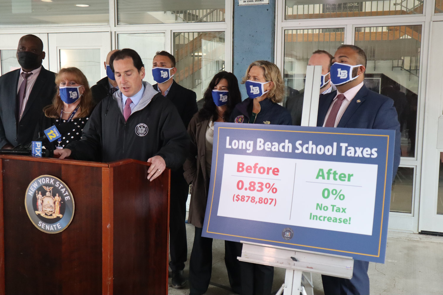 State Sen. Todd Kaminsky helped secure millions of dollars in state aid for schools.