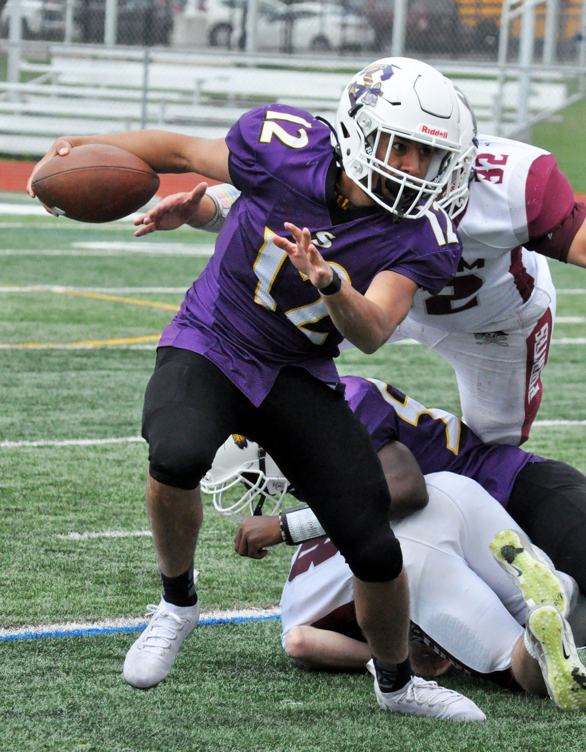 Senior quarterback Rahul Krishan passed for two touchdowns and ran for one to help Sewanhaka to a playoff-clinching 28-7 win over Mepham.