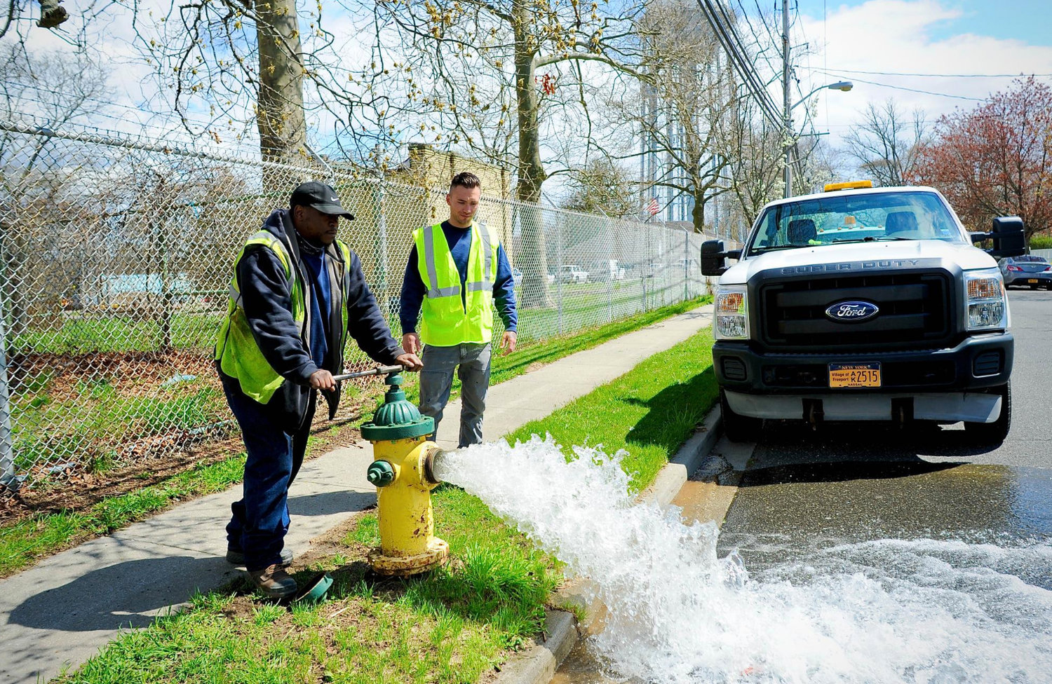 Freeport Water Department employees will be opening hydrants north of Sunrise Highway from April 19 to April 26.