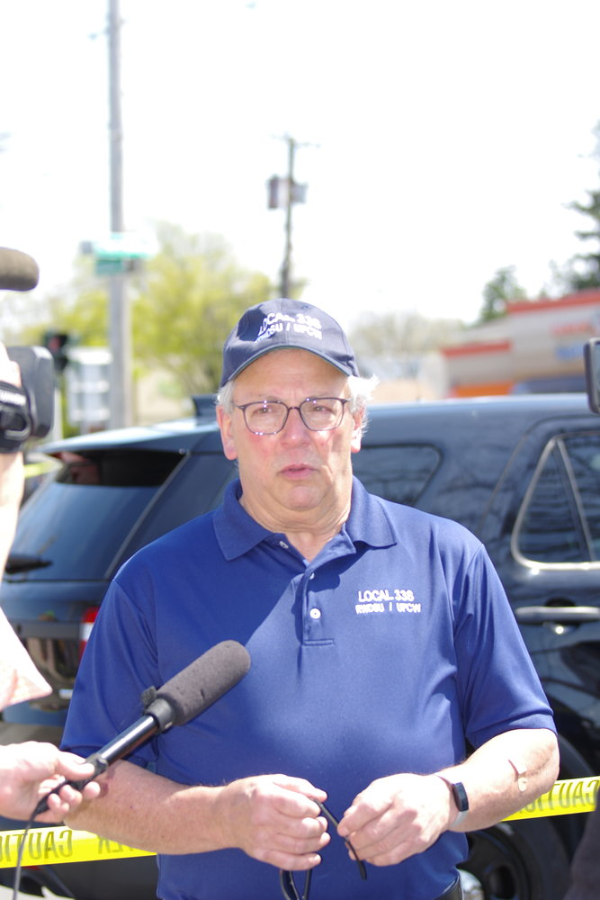 John Durso, president of Local 338 who represents employees at Stop & Shop, spoke with the media about the shooting.