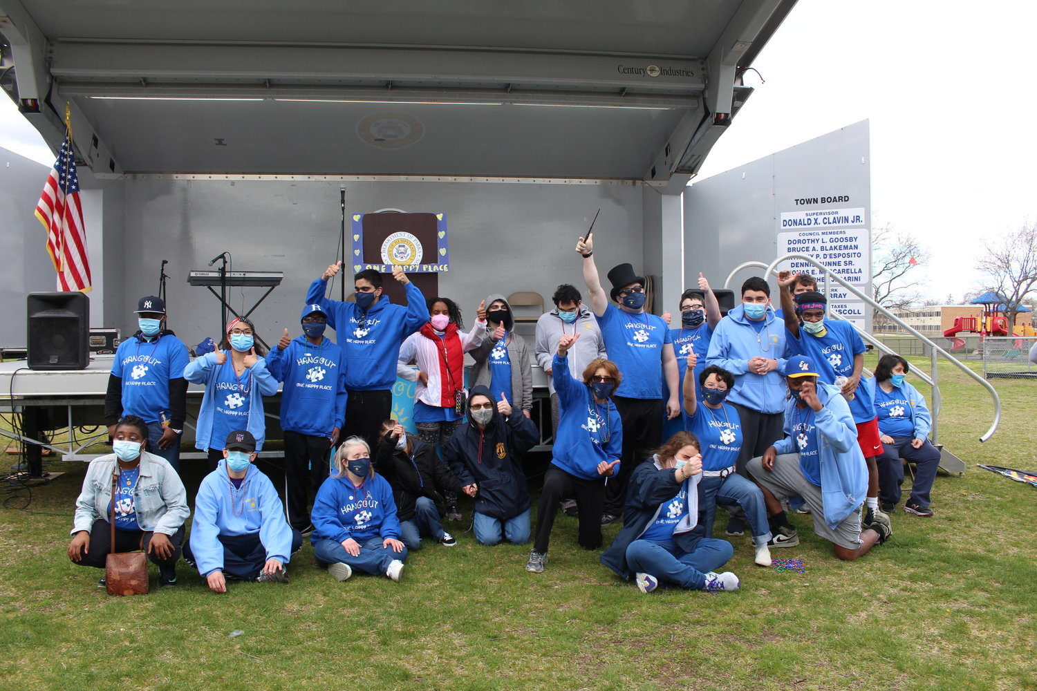The Hangout One Happy Place hosted an autism awareness walk last Sunday in Baldwin Harbor Town Park.