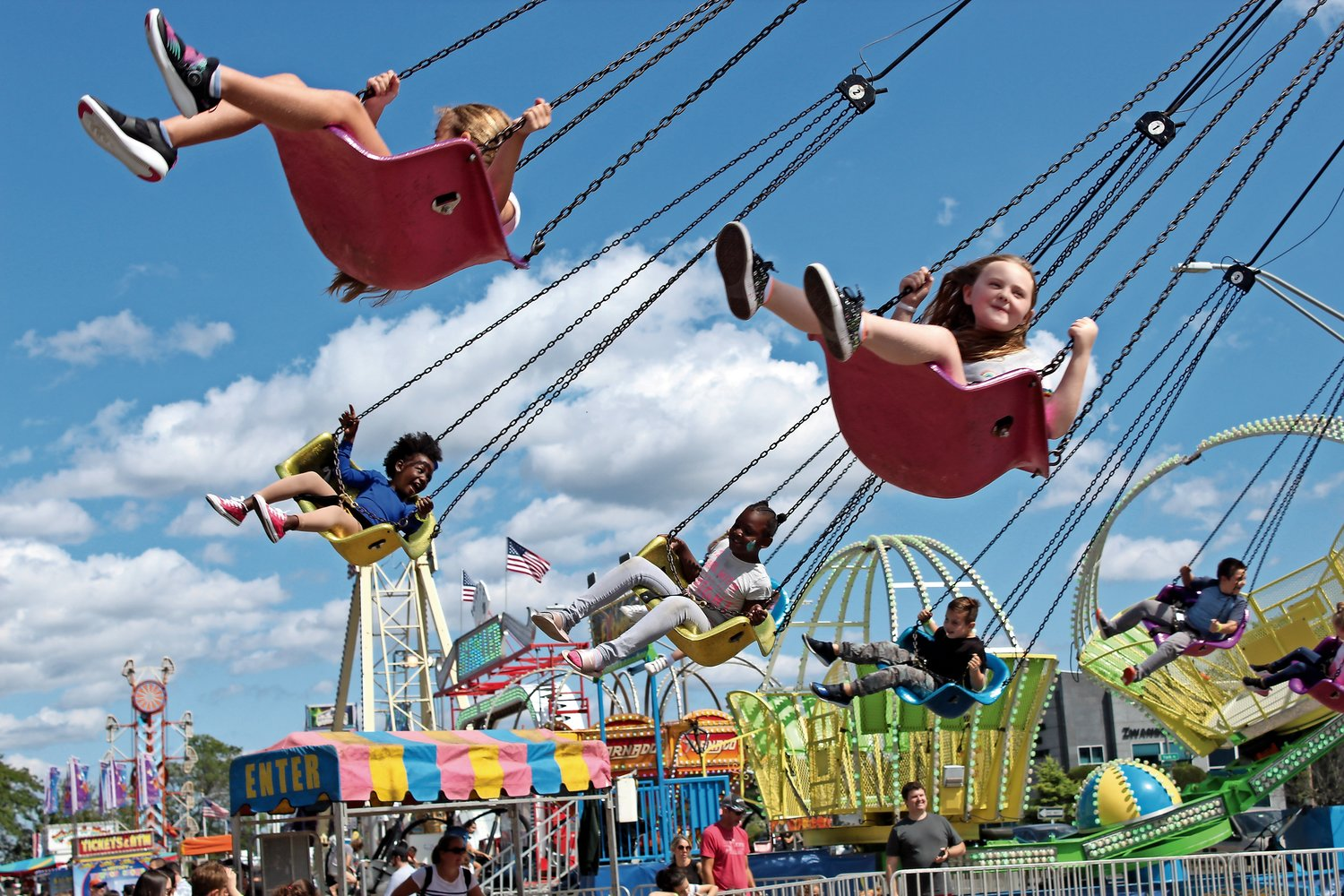 The rides are only part of the fun at the annual Merrick Fall Festival, hosted by the Merrick Chamber of Commerce, which was canceled last year. This September, both the Fall Festival and Bellmore's Street Festival will be back on.