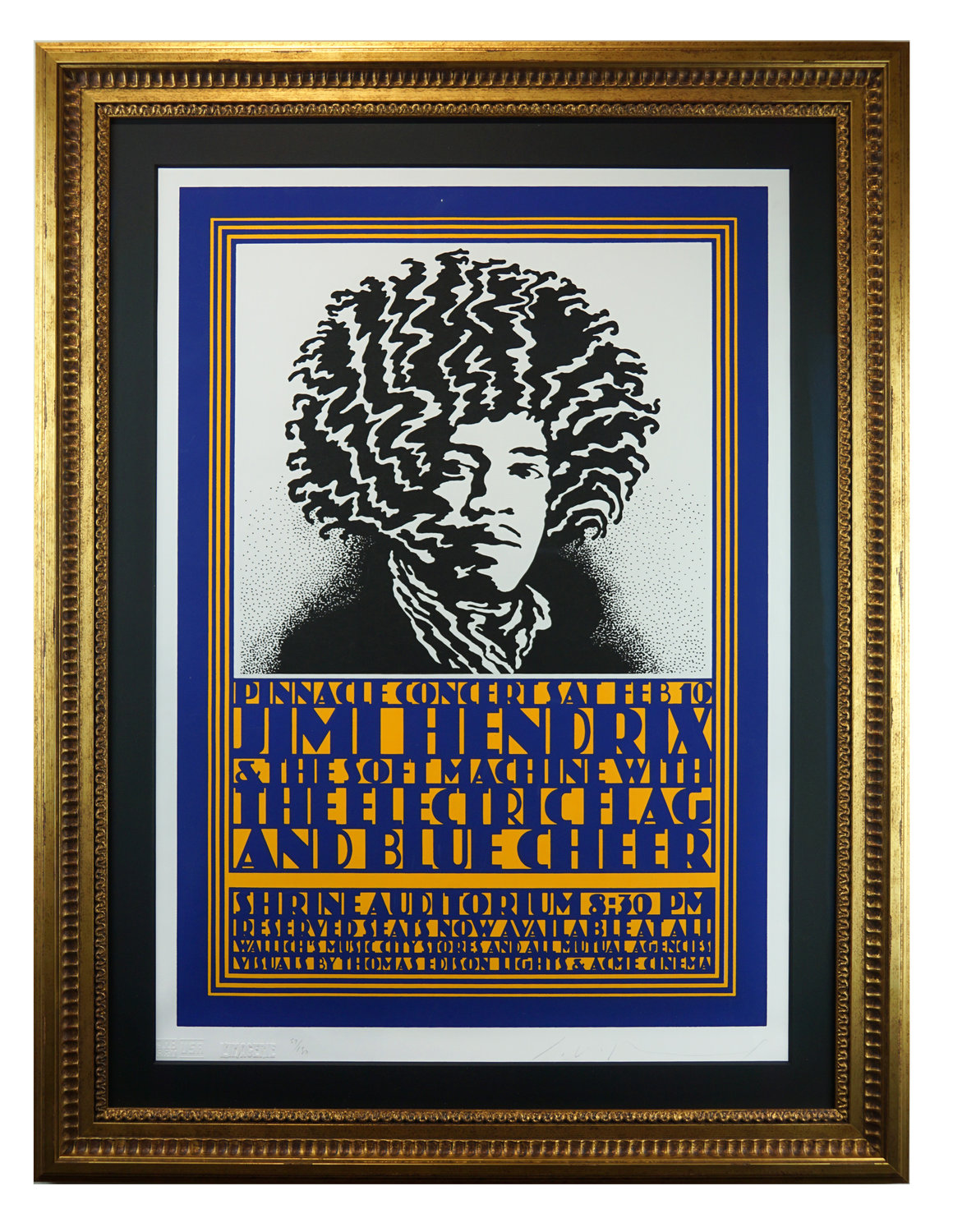 "An iconic poster, ""Jimi Hendrix, Beethoven,"" by John Van Hammersveld, is included in the Bahr Gallery's new exhibit."