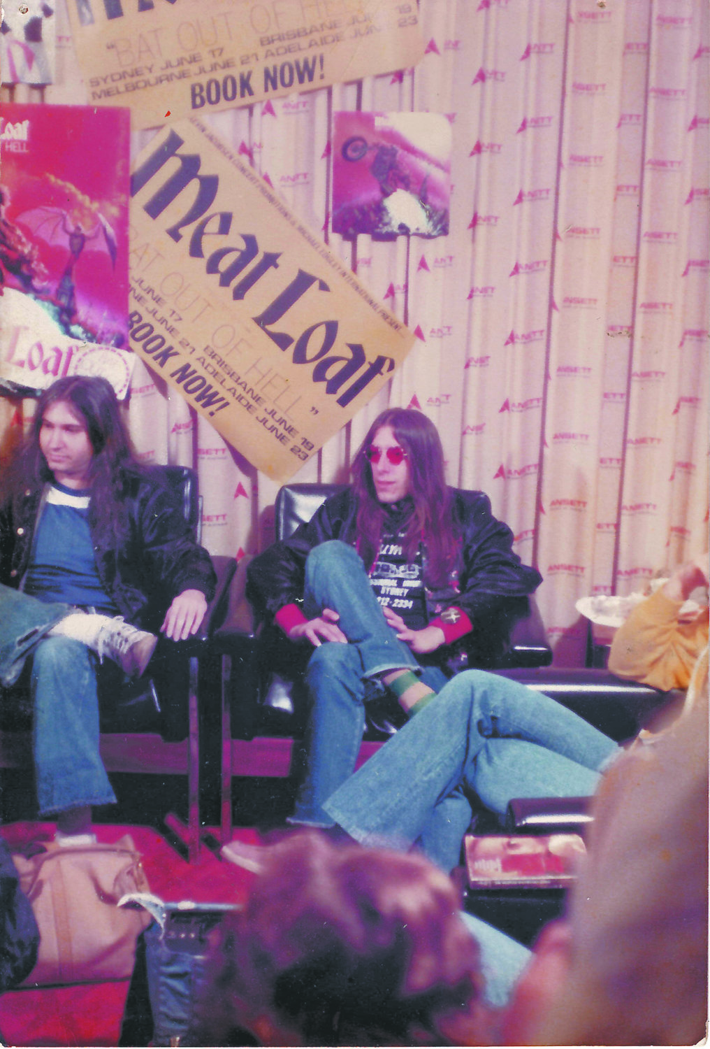 Songwriter and Hewlett Harbor native Jim Steinman, left, and drummer Joe Stefko on tour in June 1978.